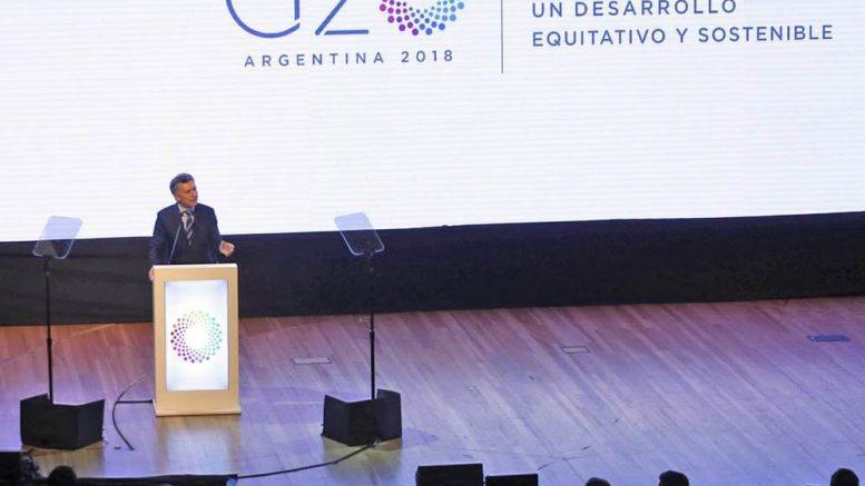 Macri asumió la presidencia del G20 para sumarse a la